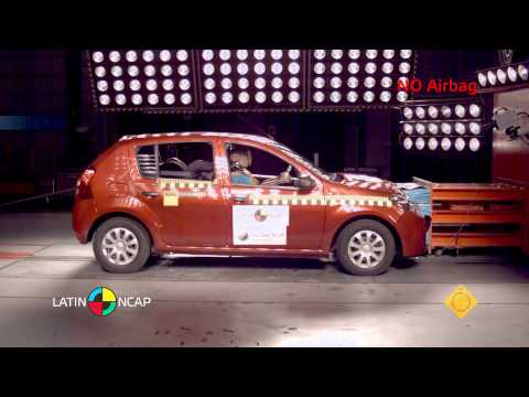 Рено Renault обзор Crash Test  Renault Sandero
